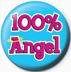Button  100% Angel