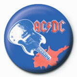 Button AC/DC - Blue guitar