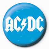 Button AC/DC -Blue logo