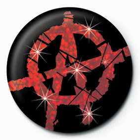 Button ANARCHY - red