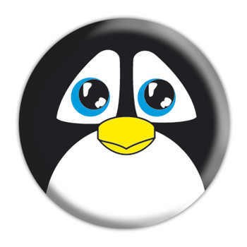 Button  ANIMAL FARM - penguin