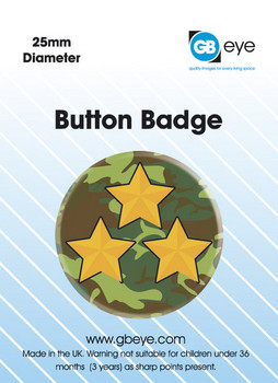 Button ARMY RANK star