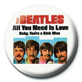 Button  BEATLES - baby,you're a rich man