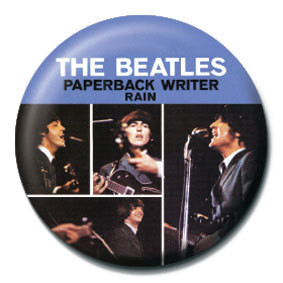 Button BEATLES - Paperback writer