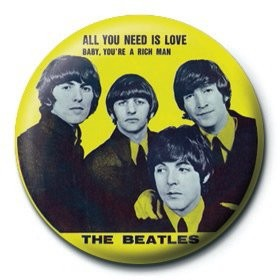 Button BEATLES - yellow