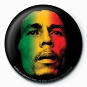 BOB MARLEY - face Button