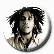 Button BOB MARLEY - sepia