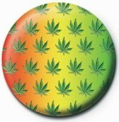 Button Cannabis leaf - multi