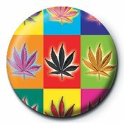 CANNABIS POPART Button