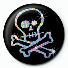 CARTOON SKULL Button