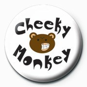 Button CHEEKY MONKEY