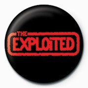 Button EXPLOITED (RED LOGO)