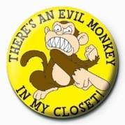 Button Family Guy (Evil Monkey)