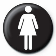 Button FEMALE SIGN
