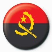 Button  Flag - Angola