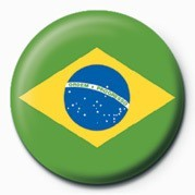 Button FLAG - BRAZIL