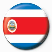 Button Flag - Costa Rica