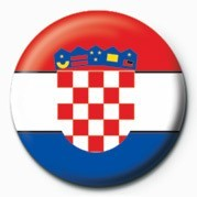 Button  Flag - Croatia