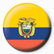 Button  Flag - Ecuador
