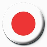 Button  Flag - Japan