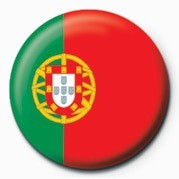 Button Flag - Portugal