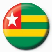 Button  Flag - Togo
