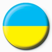 Button Flag - Ukraine