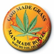 Button GOD MADE GRASS