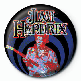JIMI HENDRIX - guitar Button
