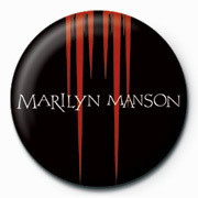 Button Marilyn Manson - Red Spikes