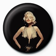 Button  MARILYN MONROE - gold