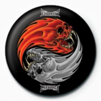 Button METALLICA - yin yang GB