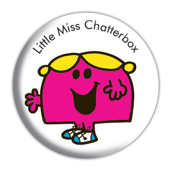 Mr. MEN AND LITTLE MISS CHATTERBOX Button