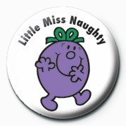 MR MEN (Little Miss Naught Button