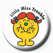 MR MEN (Little Miss Troubl Button