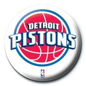 Button NBA - detroit pistons logo