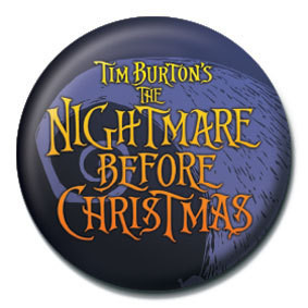 Button NIGHTMARE BEFORE CHRISTMAS - logo