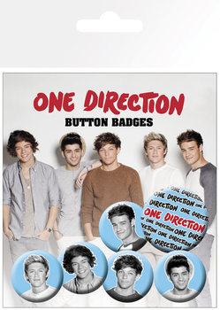 Button One Direction (B&W)