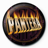 Button PANTERA - flaming
