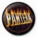 Button PANTERA - flaming