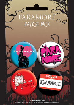 Button PARAMORE - pack 2