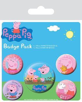 Button  Peppa Wutz