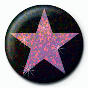 Button PINK STAR