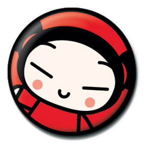 Button  PUCCA - face