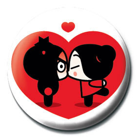 Button  PUCCA - heart