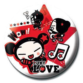 Button PUCCA - red star