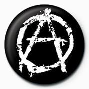Button PUNK - ANARCHY - (WHITE)