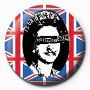 Button PUNK - GOD SAVE THE QUEEN