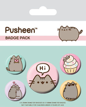 Button  Pusheen - Pusheen Says Hi