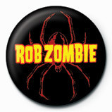 Button ROB ZOMBIE - spider logo